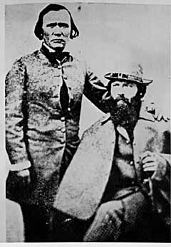 John C Fremont and Kit Carson
